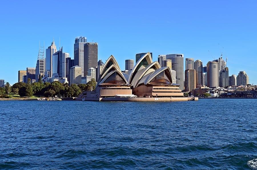 Panoráma mesta Sydney s operou