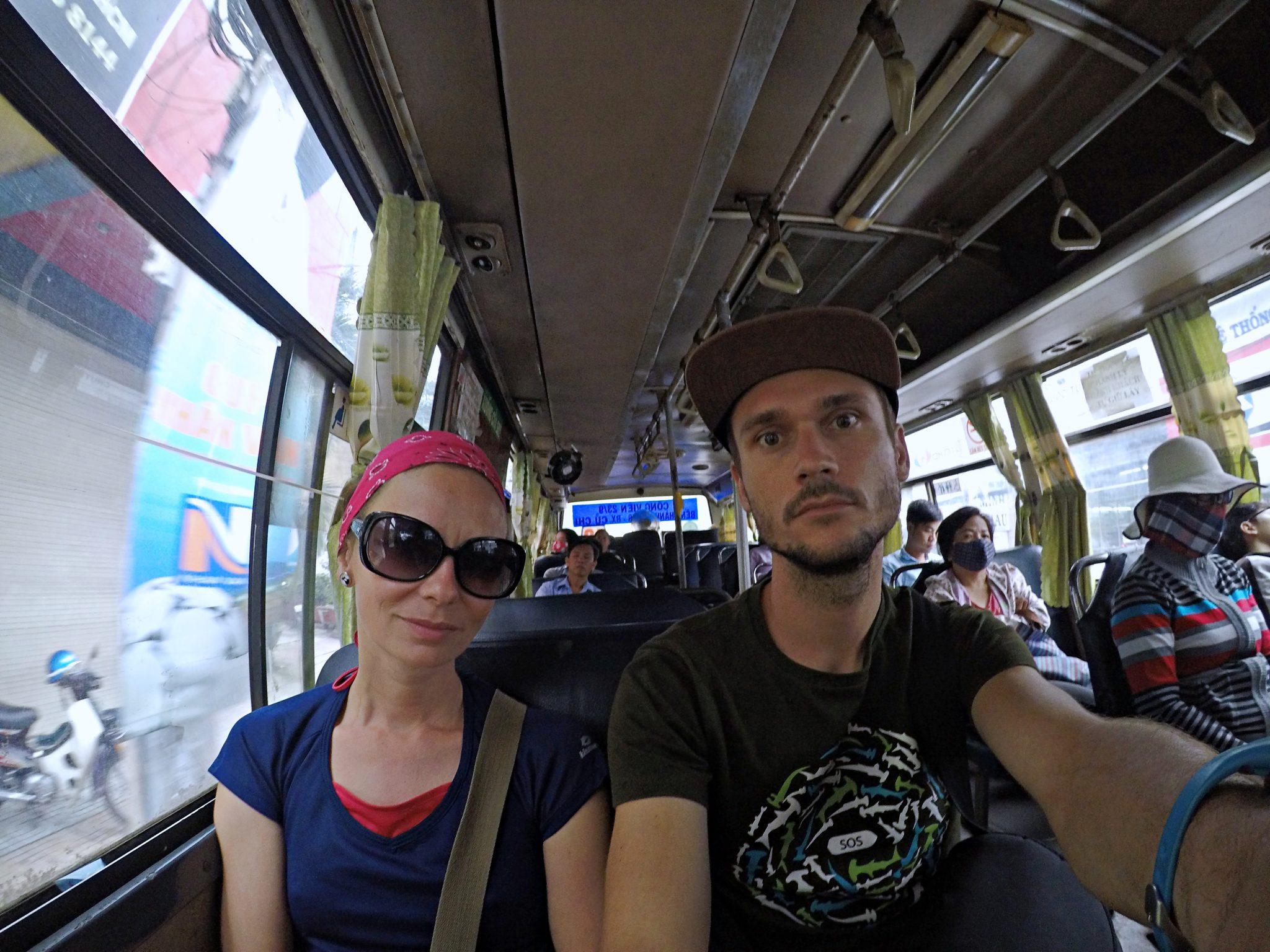 vietnam autobus doprava cestovanie